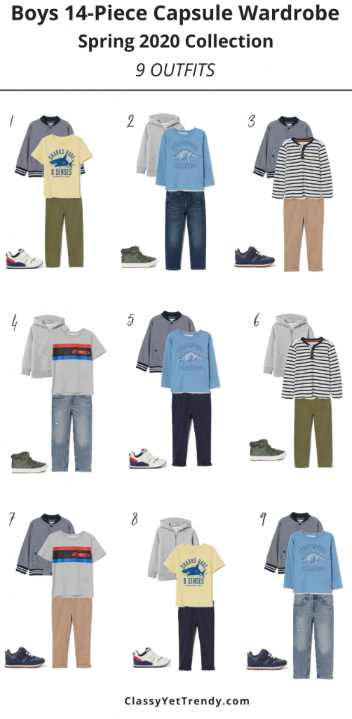 Boys-14-Piece-Capsule-Wardrobe-Spring-2020-Outfits