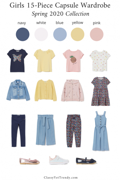 Girls-15-Piece-Capsule-Wardrobe-Spring-2020-Collection