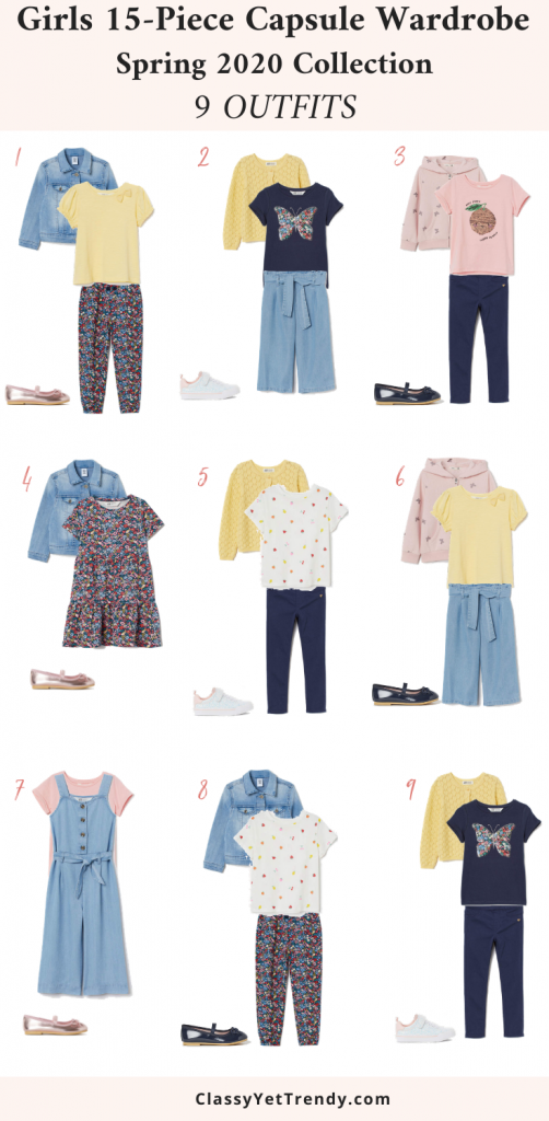 Girls-15-Piece-Capsule-Wardrobe-Spring-2020-Outfits