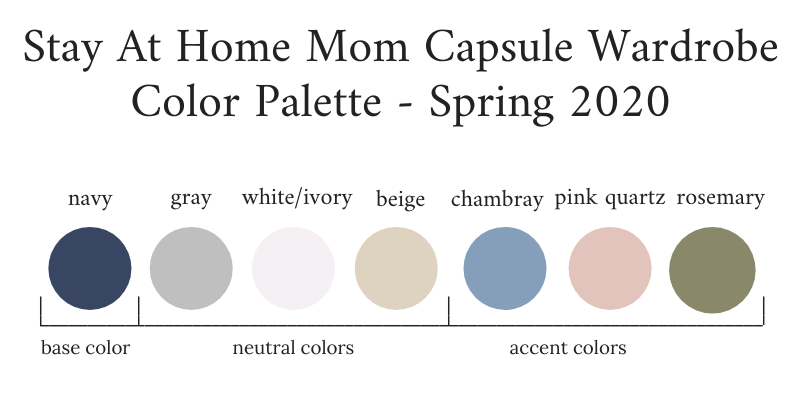 Stay At Home Mom Capsule Wardrobe Spring 2020 Color Palette