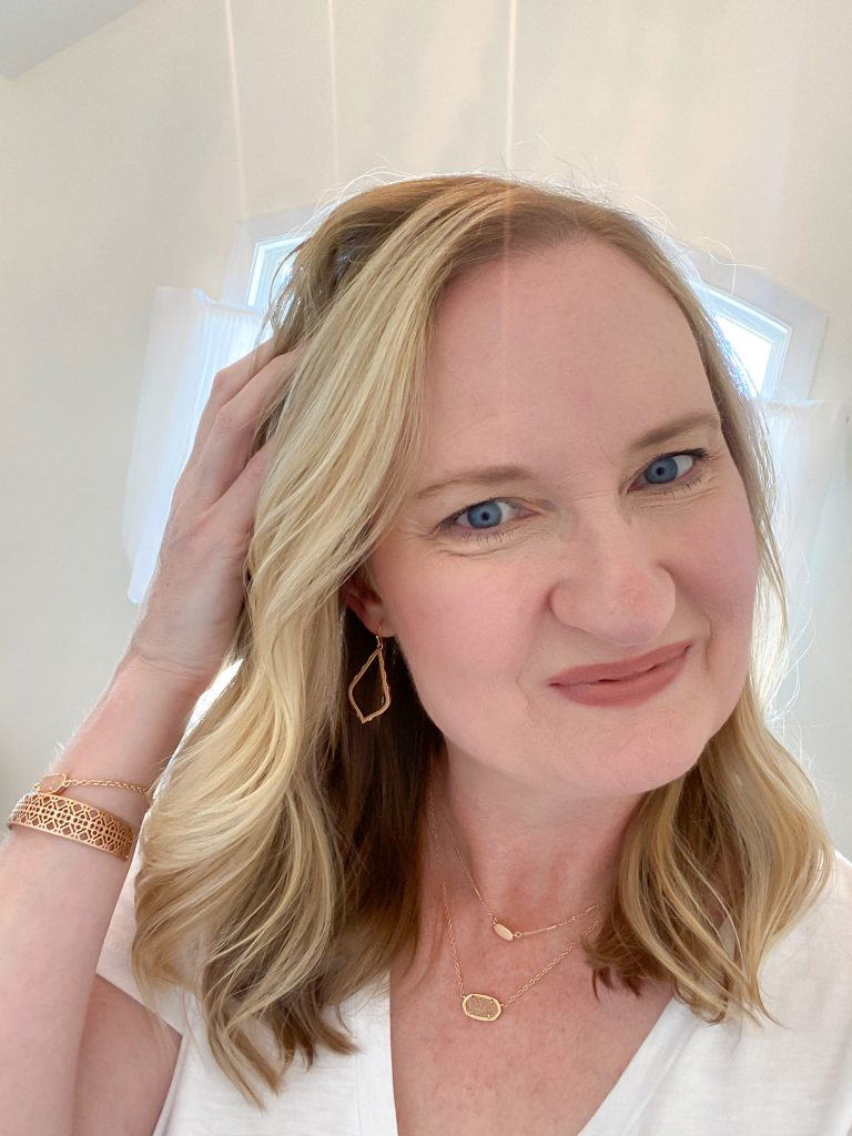 My-Makeup-Routine-Sephora-Sale-Apr-2020-finished-look-Kendra-Scott-jewelry