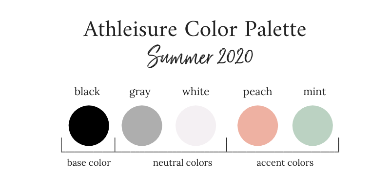 Athleisure Capsule Wardrobe Color Palette - Summer 2020