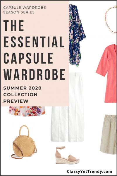 Essential Capsule Wardrobe Summer 2020 Pin