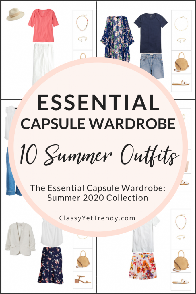 Essential Capsule Wardrobe Summer 2020 Preview - 10 Outfits PIN