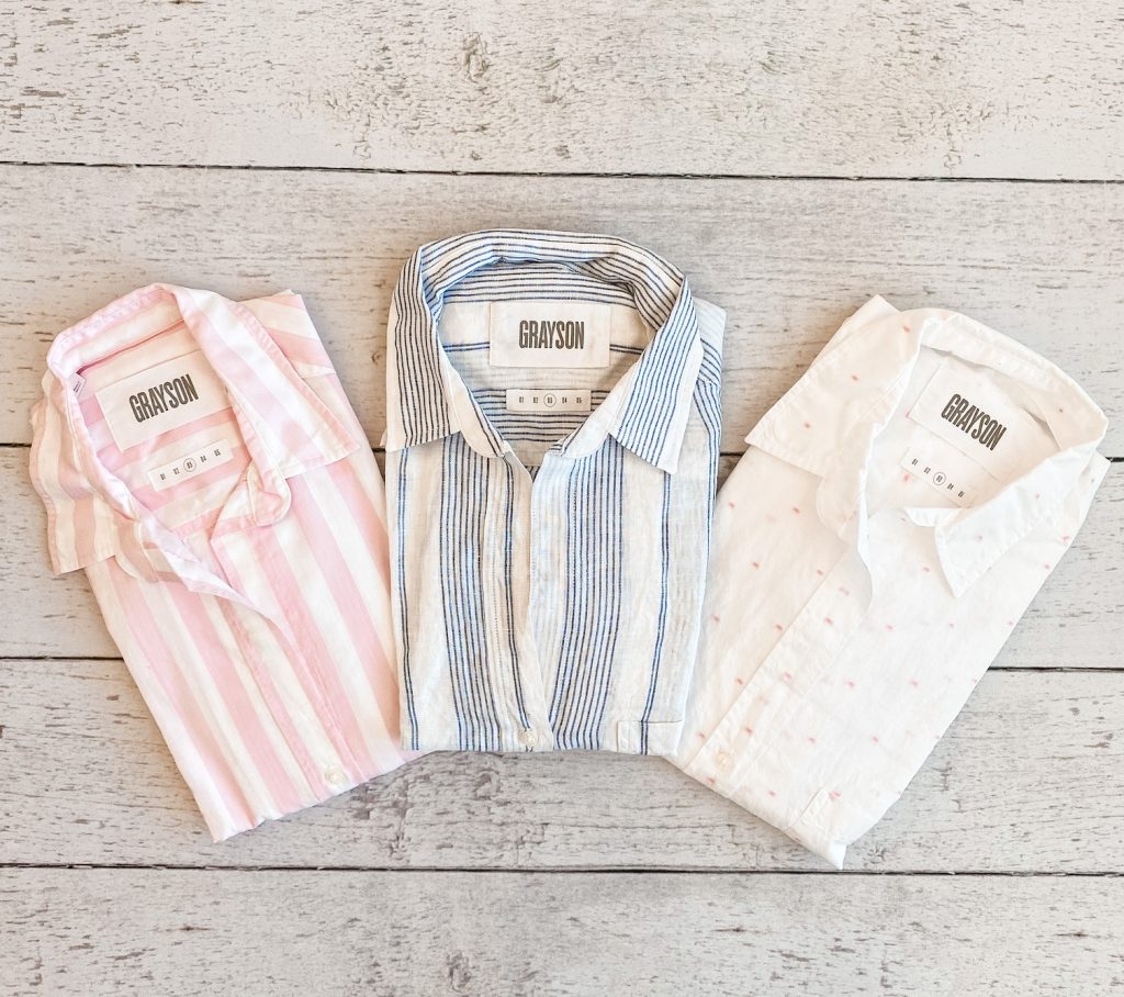 Grayson Shirts Try-On Review - flatlay