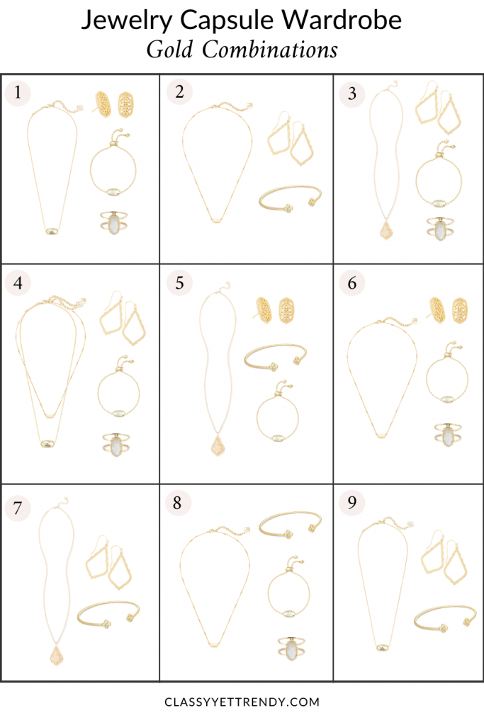 JEWELRY-CAPSULE-WARDROBE-COMBINATIONS-GOLD