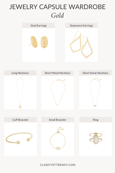 JEWELRY-CAPSULE-WARDROBE-GOLD-METAL