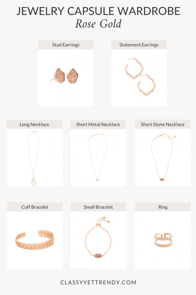 JEWELRY-CAPSULE-WARDROBE-ROSE-GOLD-METAL