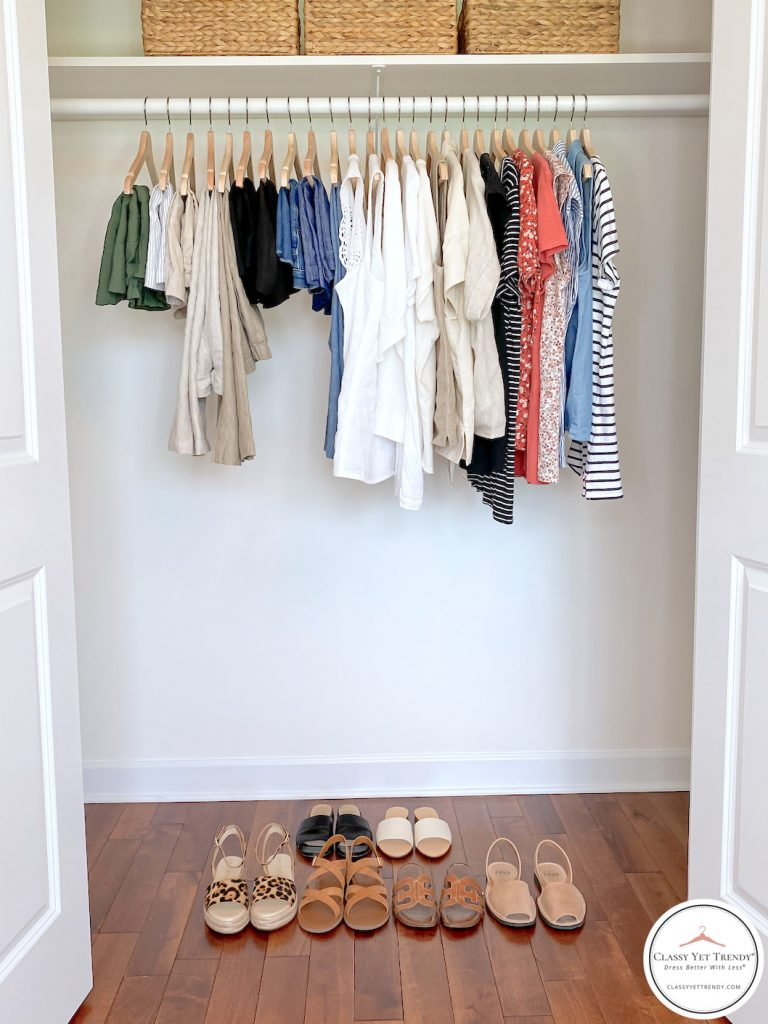 32 Piece Summer 2020 Capsule Wardrobe - closet