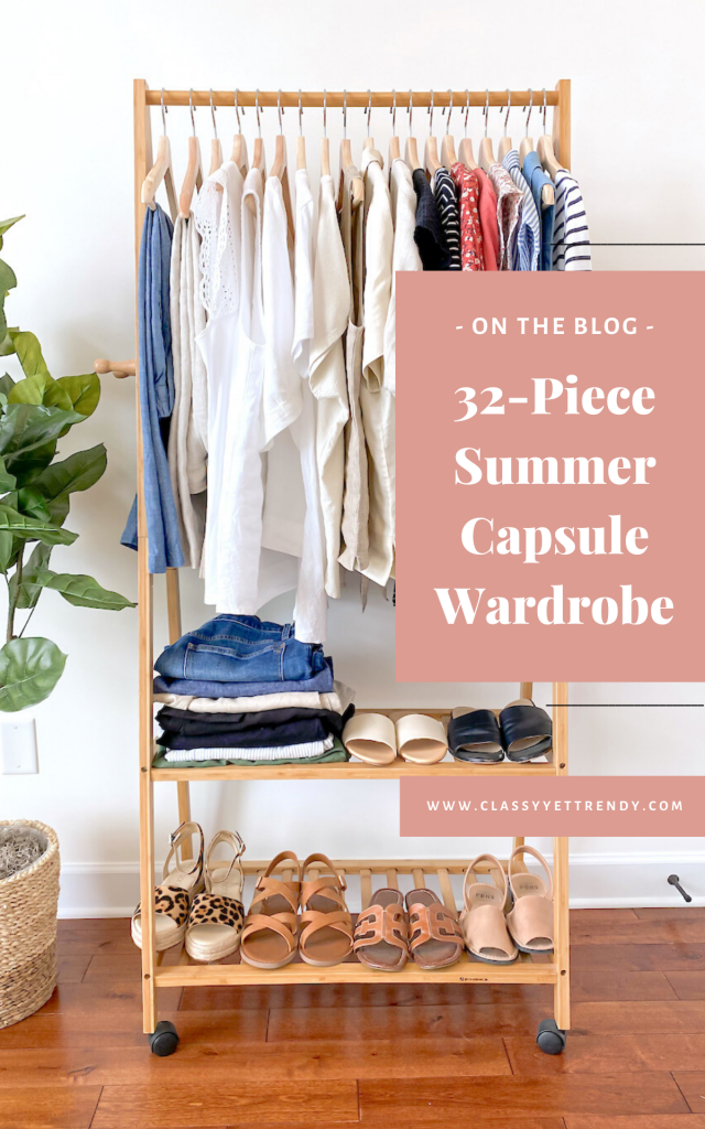 32 Piece Summer 2020 Capsule Wardrobe - clothes rack