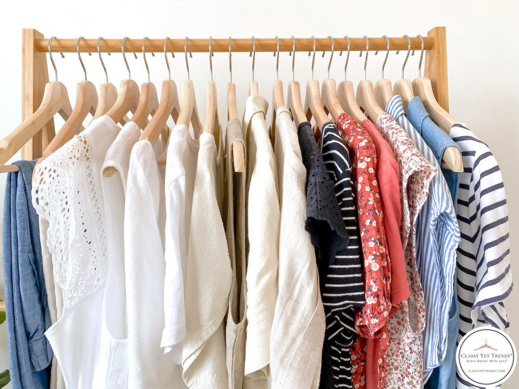 32-Piece-Summer-2020-Capsule-Wardrobe-clothes-rack-tops-pants