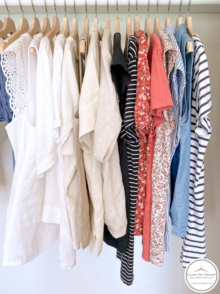 32 Piece Summer 2020 Capsule Wardrobe - tops