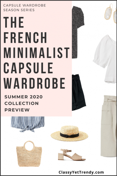 French Minimalist Capsule Wardrobe Summer 2020 Pin