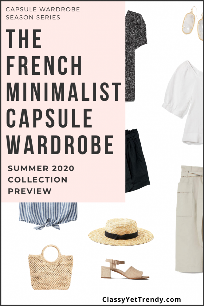 French Minimalist Capsule Wardrobe Summer 2020 Pin