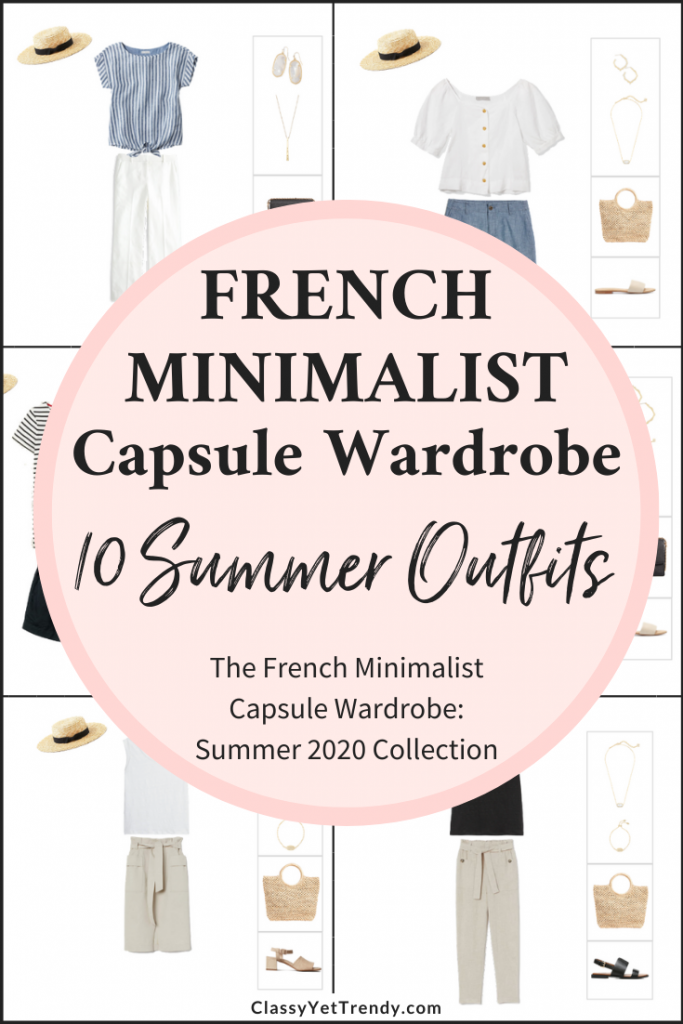 French Minimalist Capsule Wardrobe Summer 2020 Preview + 10 Outfits