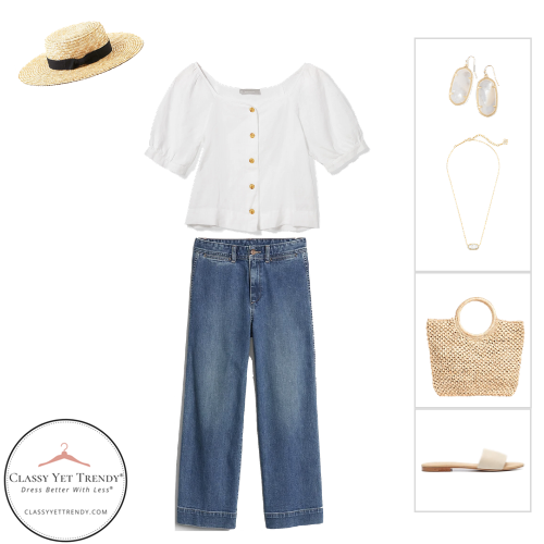 French Minimalist Capsule Wardrobe Summer 2020 - outfit 31