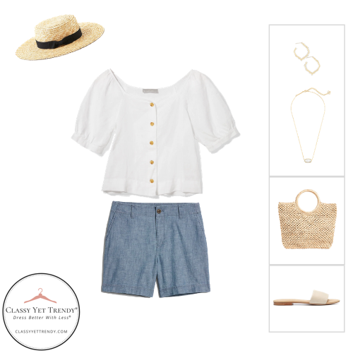 French Minimalist Capsule Wardrobe Summer 2020 - outfit 39