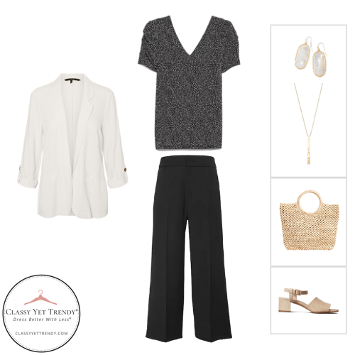 French Minimalist Capsule Wardrobe Summer 2020 - outfit 7