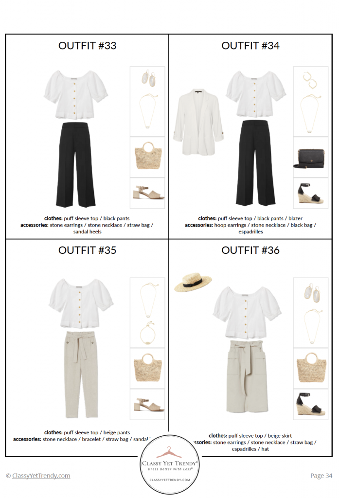 French Minimalist Capsule Wardrobe Summer 2020 pg 34