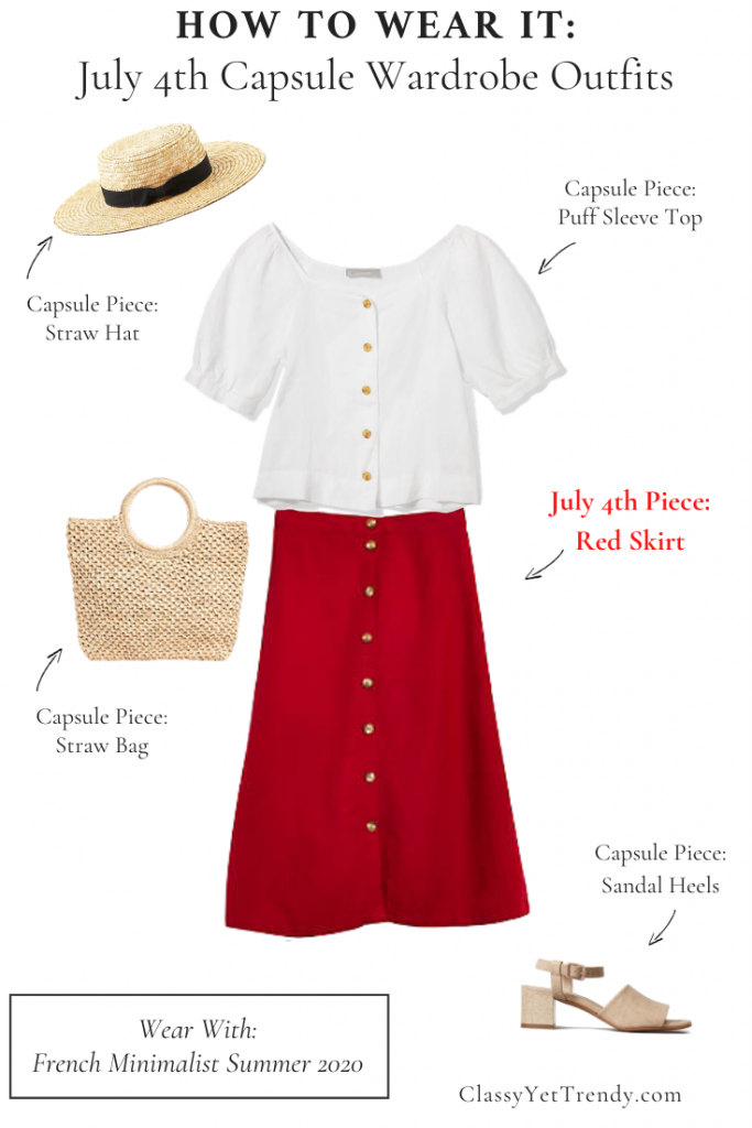 How To Wear It - July 4th Capsule Wardrobe Outfit French Minimalist