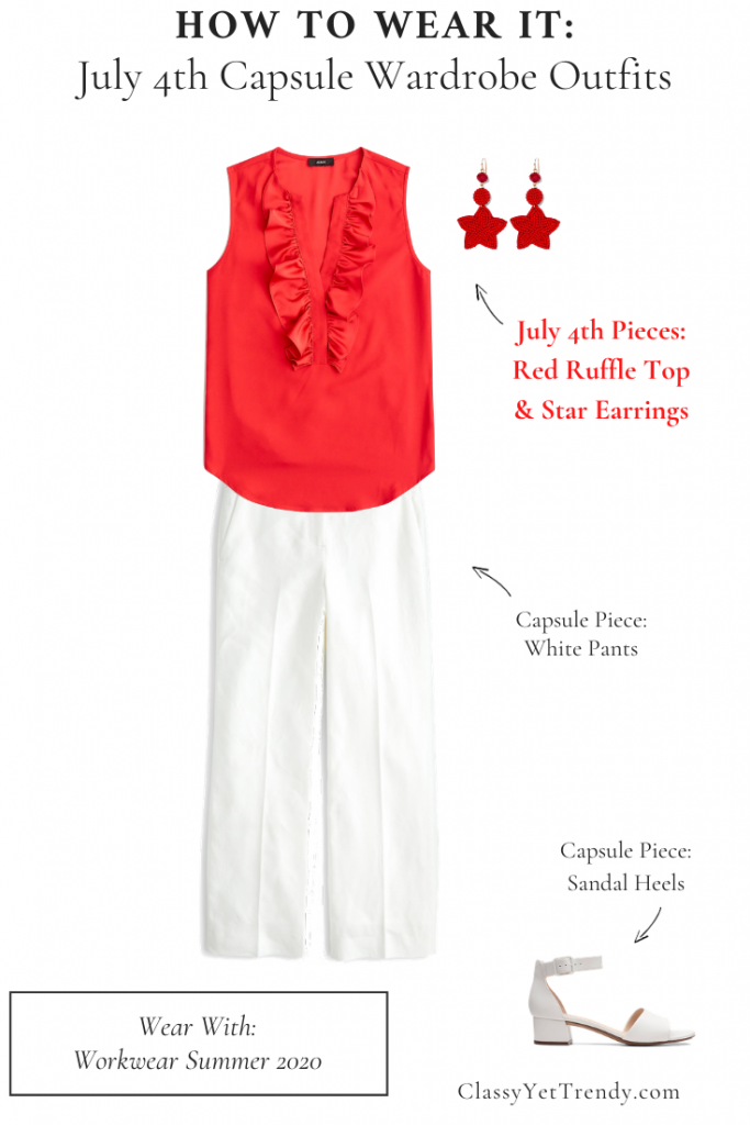 How To Wear It - July 4th Capsule Wardrobe Outfit Workwear