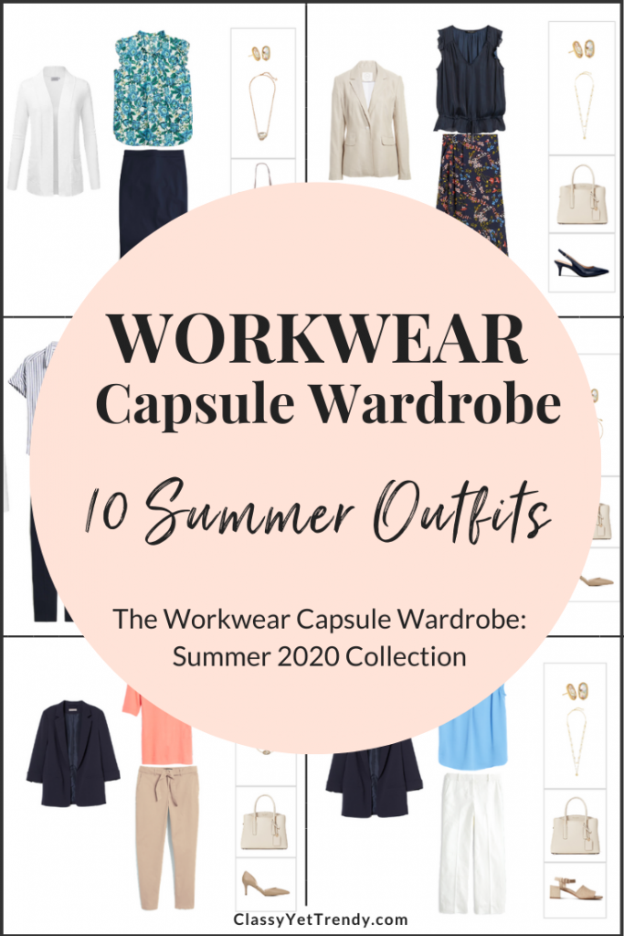 Workwear Capsule Wardrobe Summer 2020 - 10 Outfits