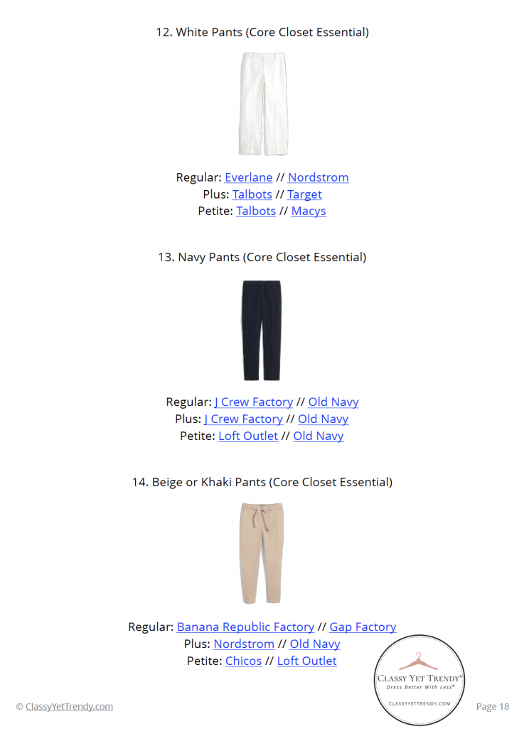 Workwear Capsule Wardrobe - Summer 2020 - pg 18