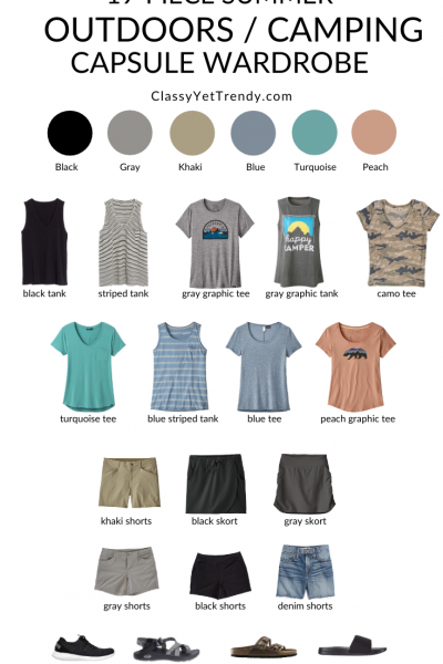 19-Piece-Outdoors-Camping-Summer-2020-Capsule-Wardrobe