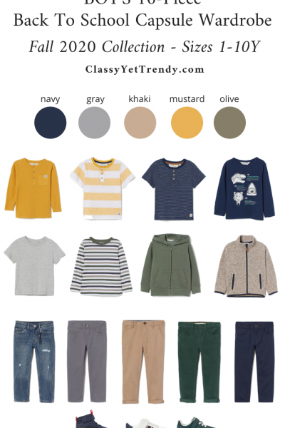 Boys 16-Piece Back To School Capsule Wardrobe - Fall 2020