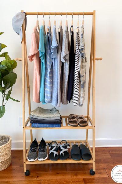 Outdoors-Camping-Capsule-Wardrobe-Summer-2020-clothes-rack-front
