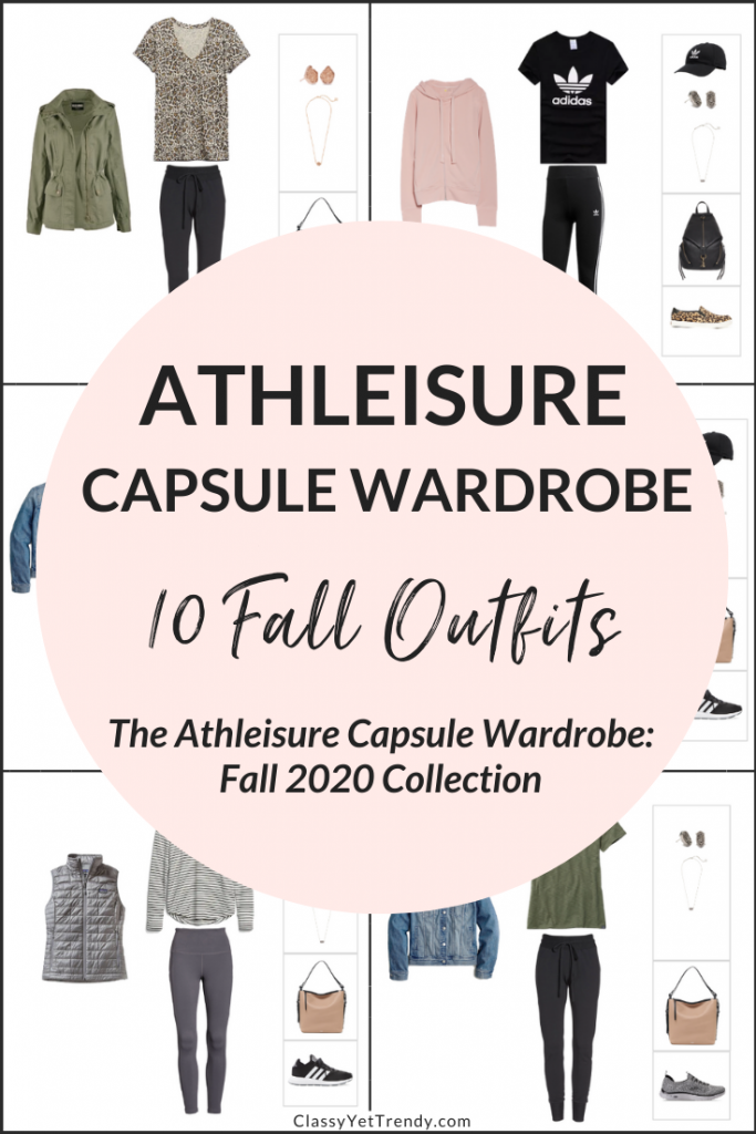 Athleisure Capsule Wardrobe Fall 2020 - 10 Outfits Pin1
