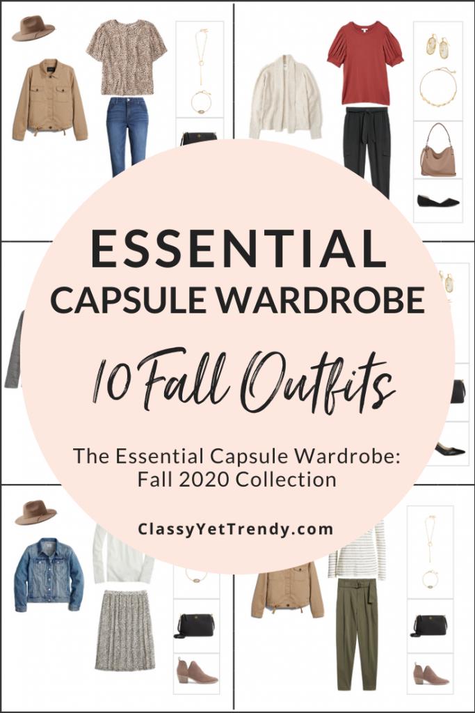 Essential Capsule Wardrobe Fall 2020 Sneak Peek - 10 Outfits PIN