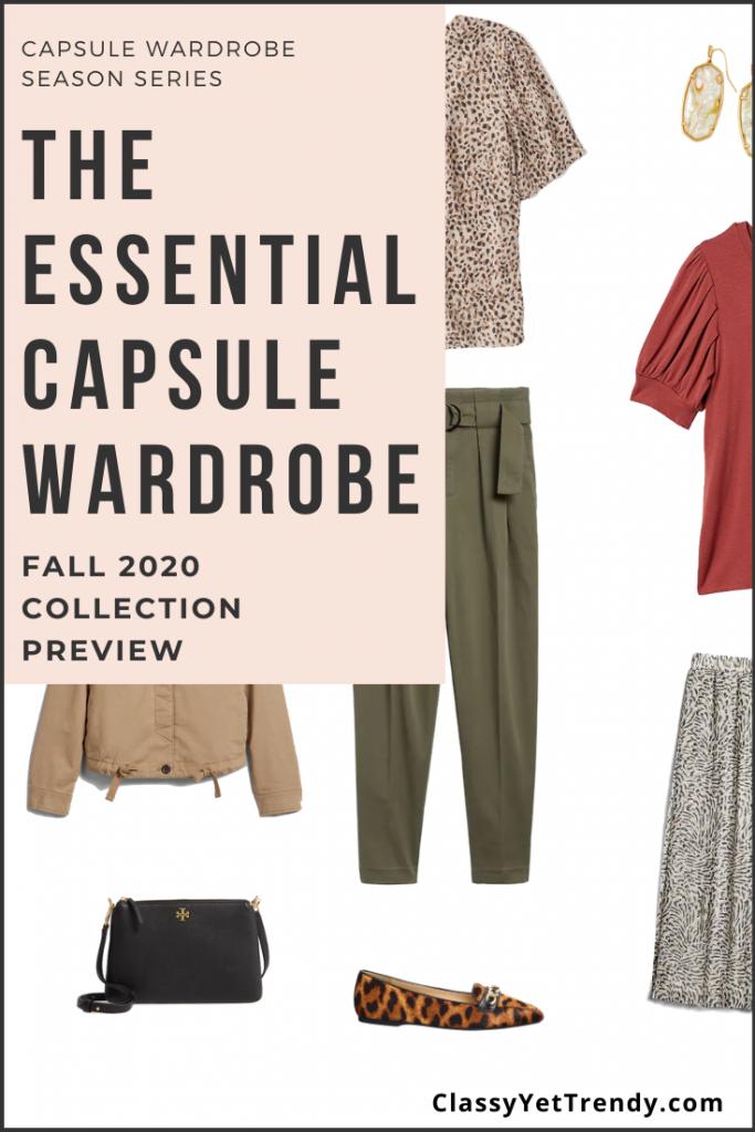 Essential Capsule Wardrobe Fall 2020 Sneak Peek