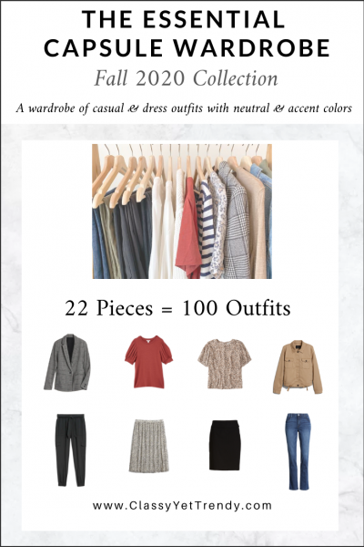 The Essential Capsule Wardrobe: Fall 2020 Collection