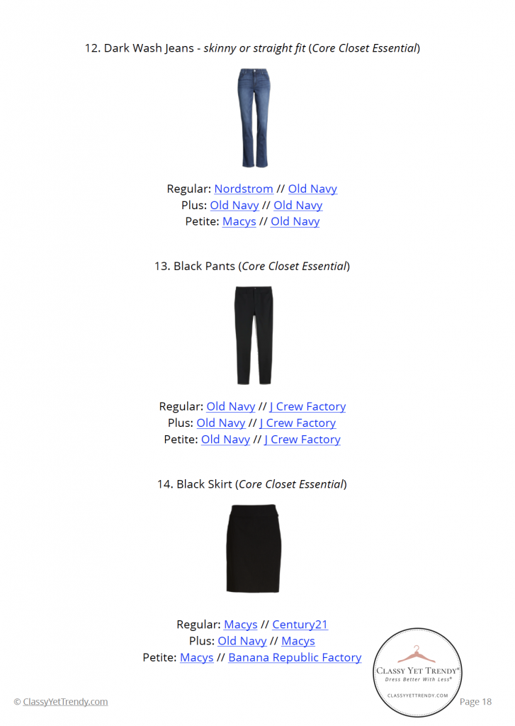 Essential Capsule Wardrobe Fall 2020 - pg18