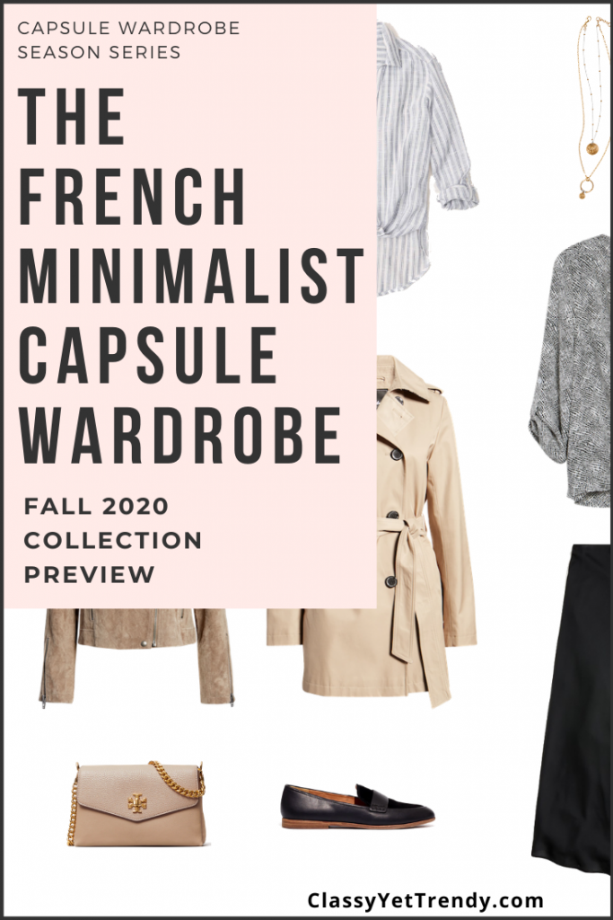French Minimalist Capsule Wardrobe Fall 2020 Pin