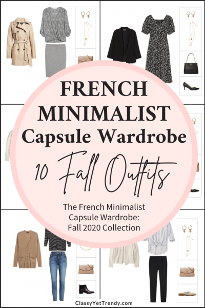 French Minimalist Capsule Wardrobe Fall 2020 Preview + 10 Outfits