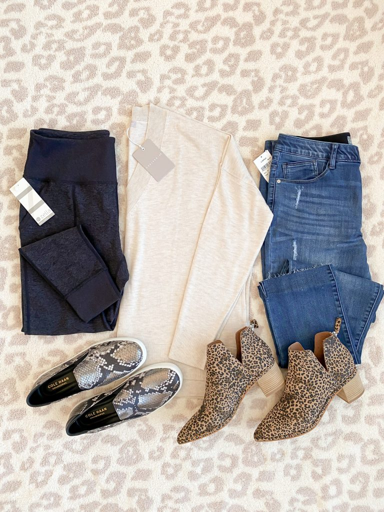 Nordstrom Anniversary Sale 2020 Try-On Round 2 - Chelsea28 Zella Wit and Wisdom Cole Haan Dolce Vita flatlay