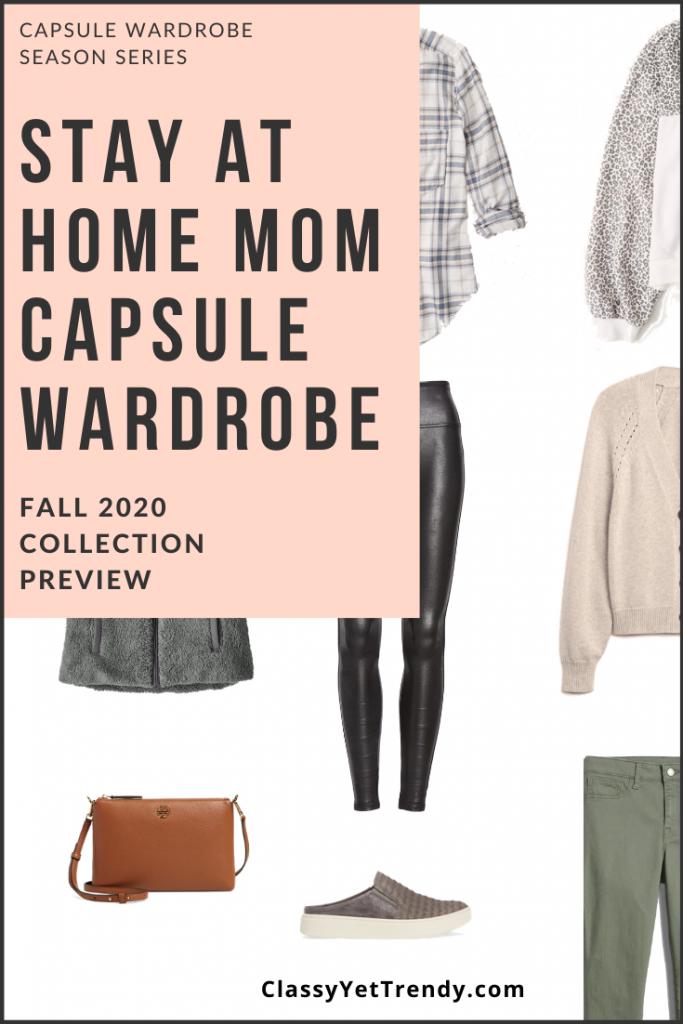Stay At Home Mom Capsule Wardrobe Fall 2020 Pin