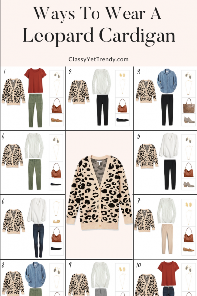 10 Ways To Wear A Leopard Cardigan - Teacher Fall 2020 Capsule Wardrobe