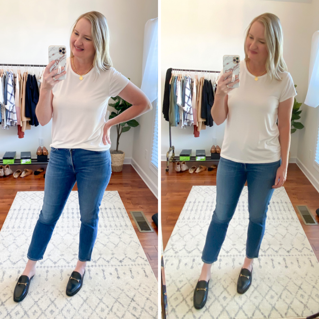 DUAL OUTFIT - J CREW 365 WHITE TEE