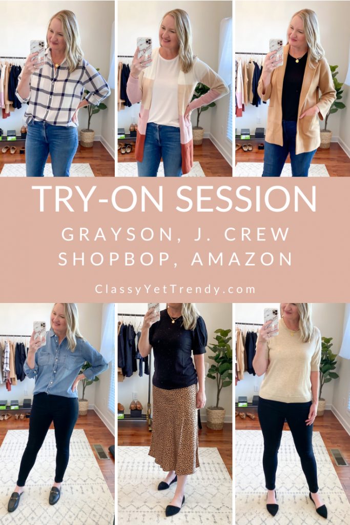 Grayson J Crew Shopbop Amazon Try On Session Sept 2020