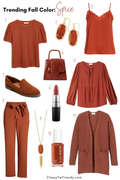 Trending Fall 2020 Color - Spice