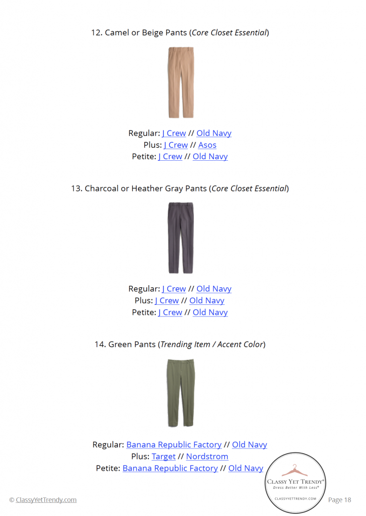 Workwear Capsule Wardrobe - Fall 2020 pg 18