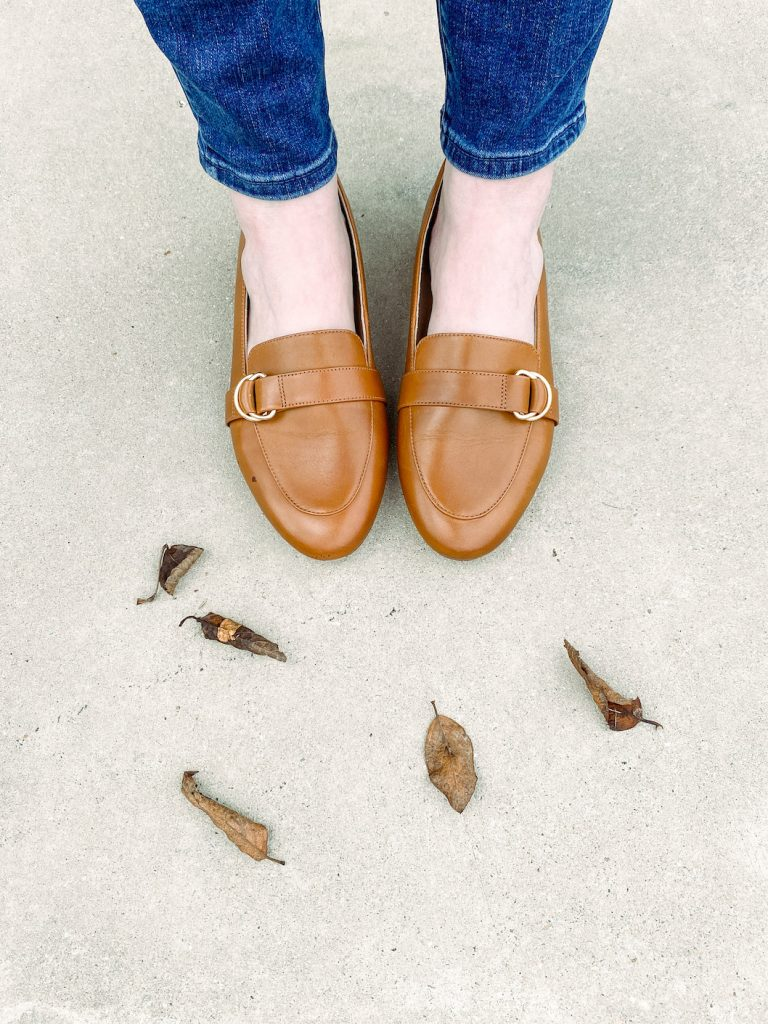 Classy Yet Trendy Wearing Talbots Jeggings D-Ring-Loafers