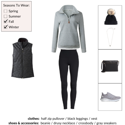 Simplified Style Athleisure Collection Winter Outfit 106