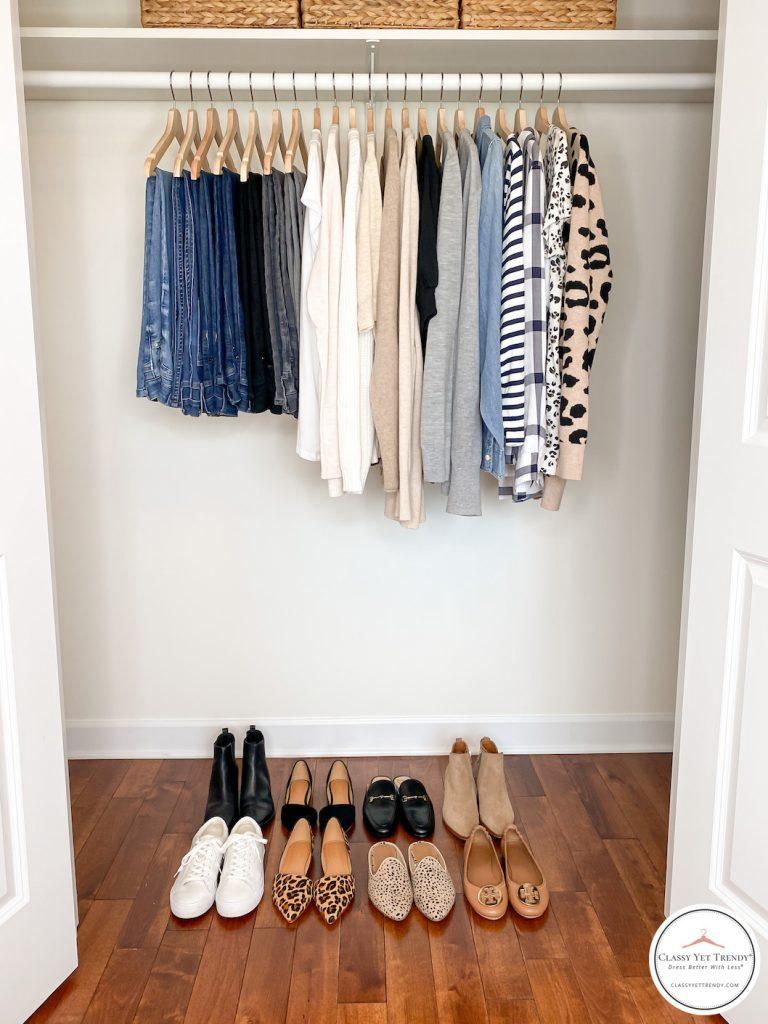 My Fall 2020 Neutral Capsule Wardrobe - closet full