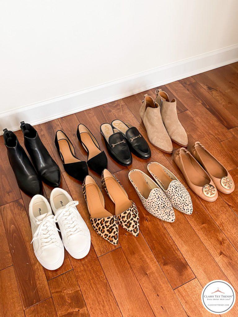 My Fall 2020 Neutral Capsule Wardrobe - closet shoes