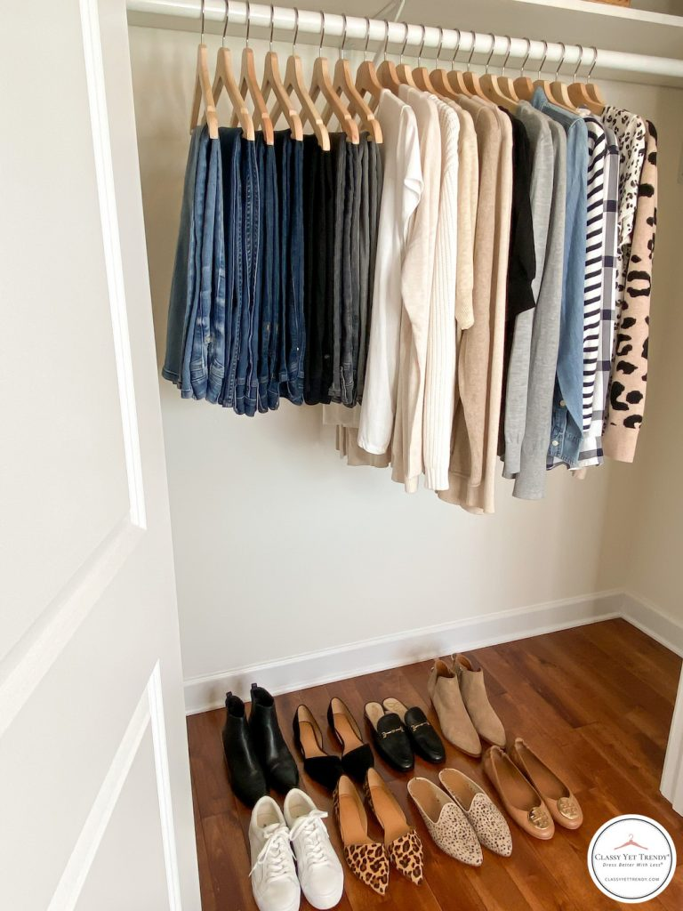 My Fall 2020 Neutral Capsule Wardrobe - closet side