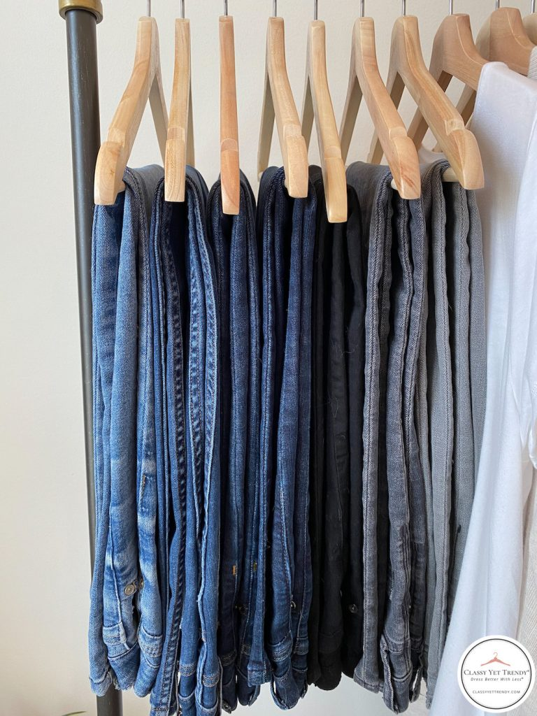 My Fall 2020 Neutral Capsule Wardrobe - clothes rack bottoms